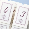 CITAS SMUKLIETIŅAS - beauty 60x60 dusty pink table numbers