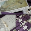 KĀZU UN JUBILEJU IELŪGUMI celebrate our love 170x90 plum violet and ivory